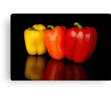 3 peppers Canvas Print