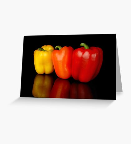 3 peppers Greeting Card