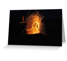 wire wool thirty foot spray of molten metal , lovely shot  Greeting Card