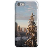 Sun on Snowy City Trees iPhone Case/Skin