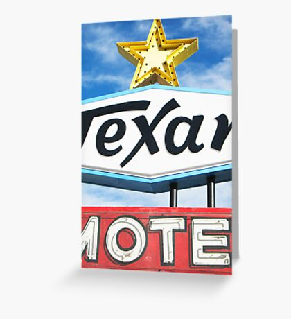 Texan Motel Greeting Card