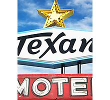 Texan Motel Photographic Print