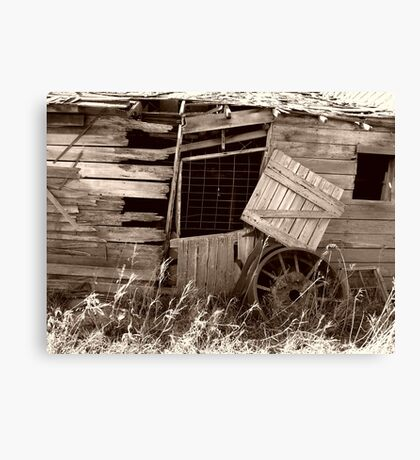 Old and Worn Out Canvas Print