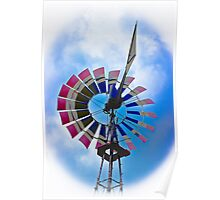 Rural Windmill Poster