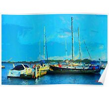 Boats at Harbourfront Toronto Poster