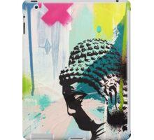 Buddha aqua paint strokes iPad Case/Skin