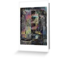 Industrial Grunge Abstract Art Greeting Card