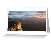 Sunset, Victoria Valley Greeting Card