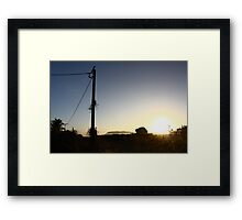 Gunbalanya Sun Rise, Arnhem Land Framed Print