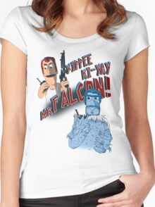 Yippee Ki-Yay, Mr Falcon! Women's Fitted Scoop T-Shirt