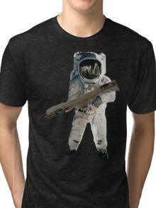 Astro the fun naut: WITH A LAZAR GUN!!!! Tri-blend T-Shirt