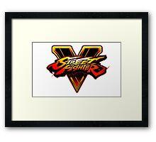 Street Fighter V - Logo Framed Print
