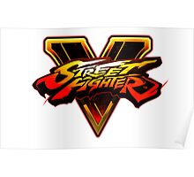 Street Fighter V - Logo Poster