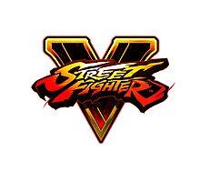 Street Fighter V - Logo Photographic Print