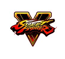 Street Fighter V - Logo Photographic Print
