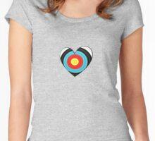 Archery heart Women's Fitted Scoop T-Shirt