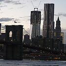 NEW YORK CITY'S NEW WORLD TRADE CENTER AND BROOKLYN BRIDGE by KENDALL EUTEMEY