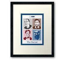 I Double Heart the Doctor Framed Print