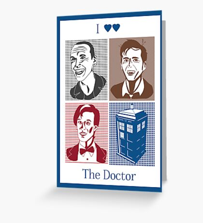 I Double Heart the Doctor Greeting Card