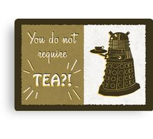 Dalek Tea Time Canvas Print
