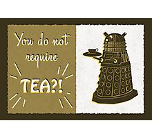 Dalek Tea Time Photographic Print