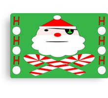 hohoho jolly roger santa card Canvas Print