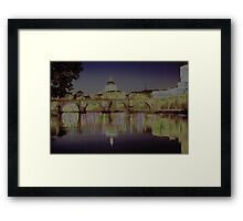 Rome. Night and lights Framed Print