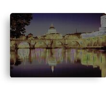 Rome. Night and lights Canvas Print