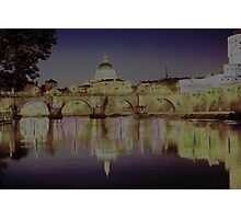 Rome. Night and lights Photographic Print