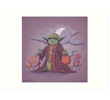Yoda Trick or Treat Art Print