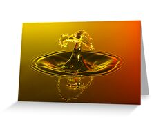 Sunset Drop Greeting Card