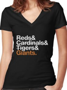 San Francisco Giants 2012 Opponents (Tigers) Women's Fitted V-Neck T-Shirt