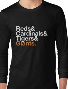 San Francisco Giants 2012 Opponents (Tigers) Long Sleeve T-Shirt