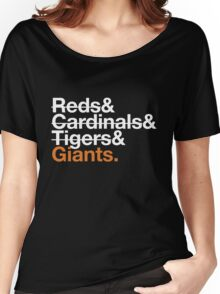 San Francisco Giants 2012 Opponents (Tigers) Women's Relaxed Fit T-Shirt