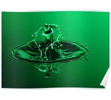 Emerald Spray Poster