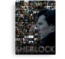 Sherlock BBC Screens Canvas Print