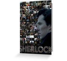 Sherlock BBC Screens Greeting Card