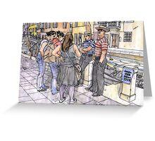Turiste a Venezia Greeting Card