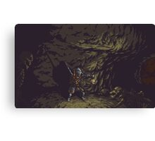 Pixel Tomb of the Giants Canvas Print