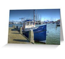 Blue fishingboat, no kidding! Greeting Card