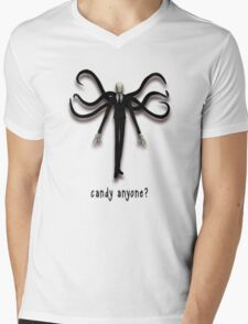 Slender Man, the Candy Man Mens V-Neck T-Shirt