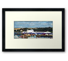 """ Waiting for a refit"" Framed Print"