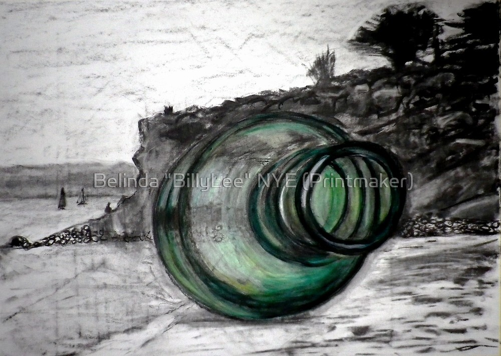 """Message in a Bottle"" Mornington Peninsula by Belinda ""BillyLee"" NYE (Printmaker)"