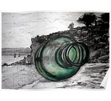 """Message in a Bottle"" Mornington Peninsula Poster"