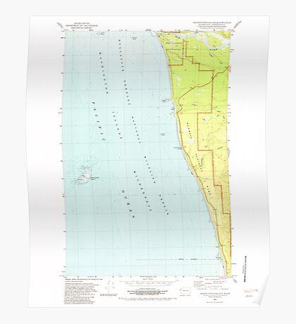 USGS Topo Map Washington State WA Destruction Island 240845 1982 24000 Poster