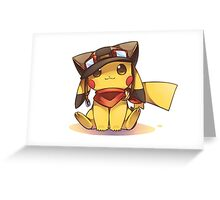 Pikachu Pilot Greeting Card