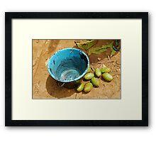 Blue Pail Framed Print
