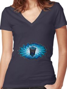 Dr Who - The Tardis Women's Fitted V-Neck T-Shirt