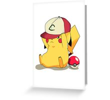 Pikachu Hat Greeting Card