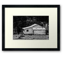 Beam Creek house Framed Print